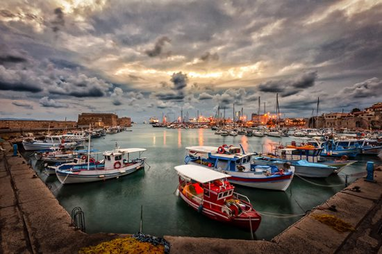 HERAKLION BAY, CRETE ISLAND, GREECE