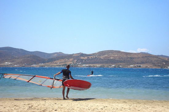 POUNDA KITESPOT, PAROS, CYCLADES, GREECE